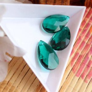 Necklace pendants, Crystal, Teal, 22mm x 13mm x 7mm, 1 pieces, [SSL100]